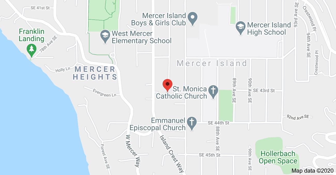 Map - 4316 Island Crest Wy, Mercer Island, WA 98040